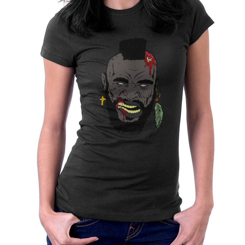 Zombie Mr. T Women's T-Shirt Women's T-Shirt Cloud City 7 - 2