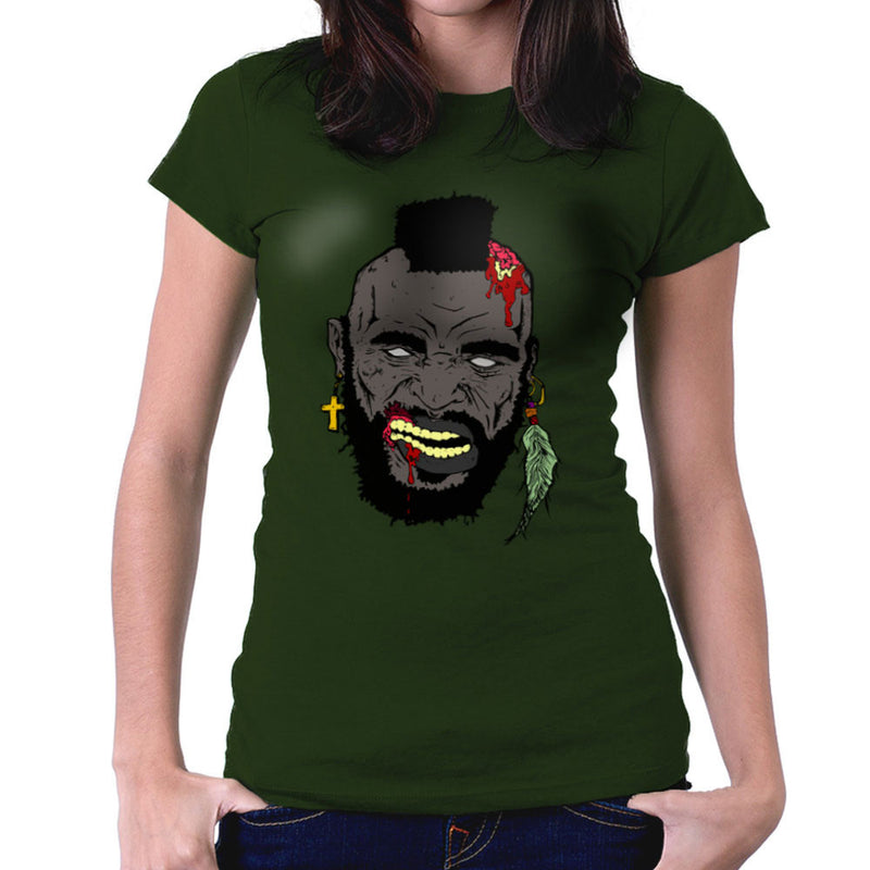 Zombie Mr. T Women's T-Shirt Women's T-Shirt Cloud City 7 - 13