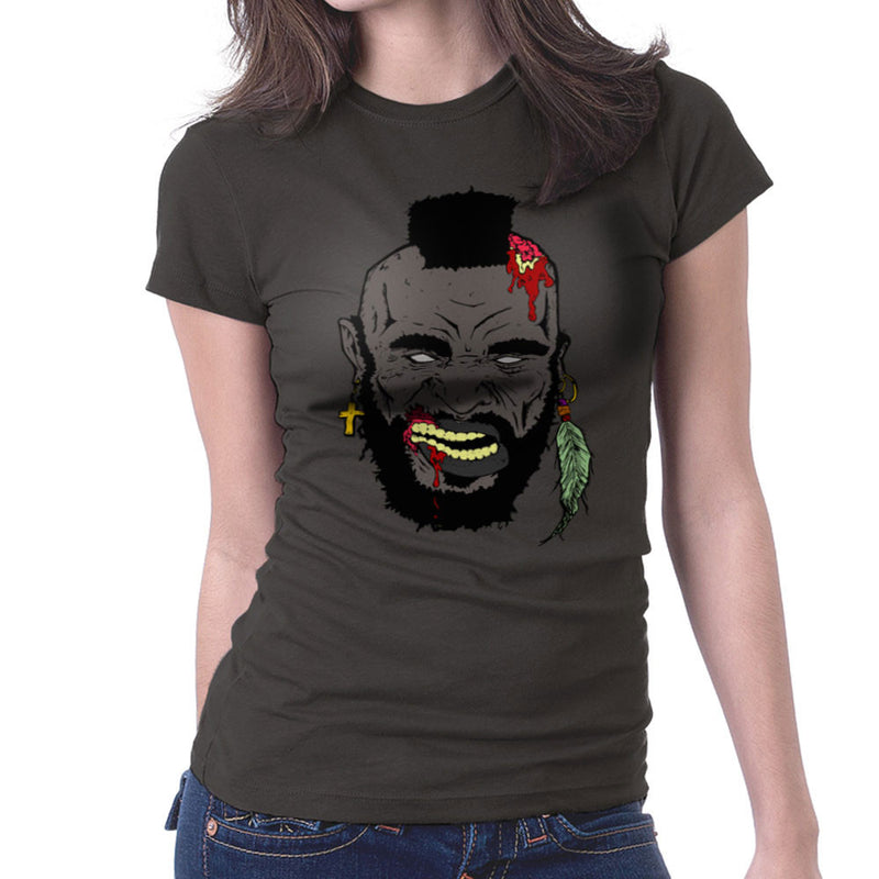 Zombie Mr. T Women's T-Shirt Women's T-Shirt Cloud City 7 - 4