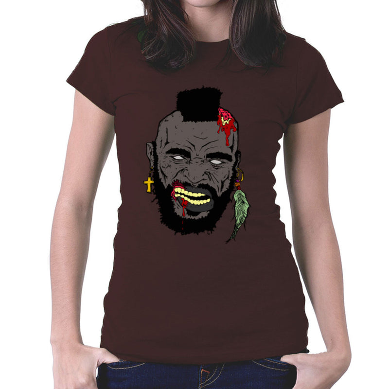 Zombie Mr. T Women's T-Shirt Women's T-Shirt Cloud City 7 - 12