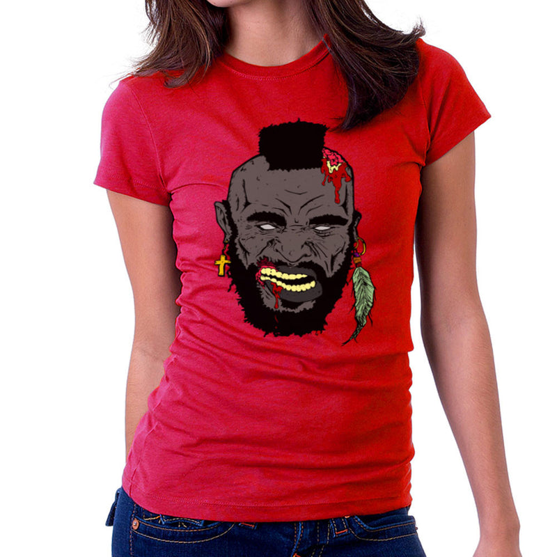 Zombie Mr. T Women's T-Shirt by Chris Stringer - Cloud City 7