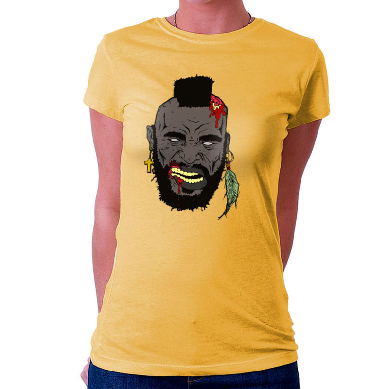 Zombie Mr. T Women's T-Shirt Women's T-Shirt Cloud City 7 - 18