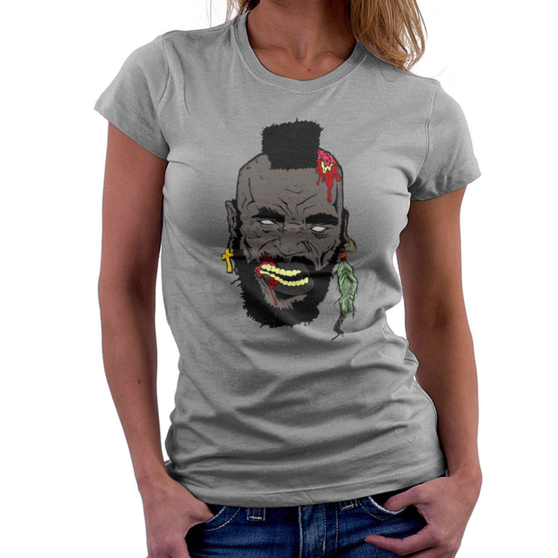 Zombie Mr. T Women's T-Shirt Women's T-Shirt Cloud City 7 - 5