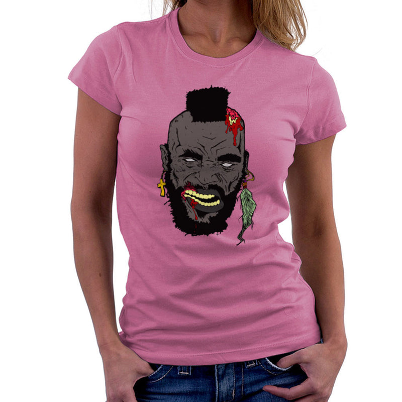 Zombie Mr. T Women's T-Shirt Women's T-Shirt Cloud City 7 - 20