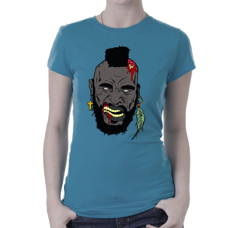 Zombie Mr. T Women's T-Shirt Women's T-Shirt Cloud City 7 - 9