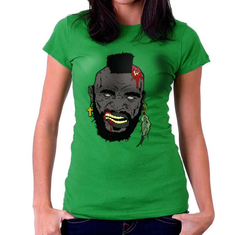 Zombie Mr. T Women's T-Shirt Women's T-Shirt Cloud City 7 - 14