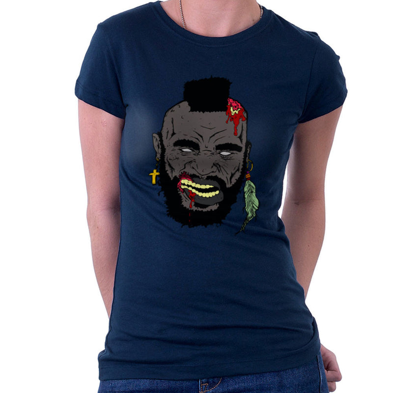 Zombie Mr. T Women's T-Shirt Women's T-Shirt Cloud City 7 - 7