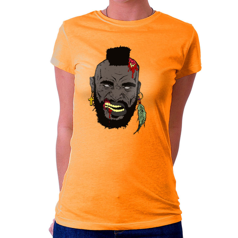 Zombie Mr. T Women's T-Shirt Women's T-Shirt Cloud City 7 - 17