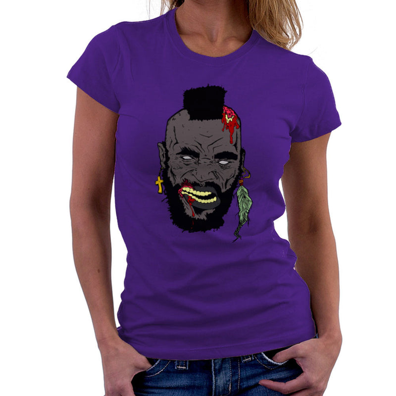 Zombie Mr. T Women's T-Shirt Women's T-Shirt Cloud City 7 - 19