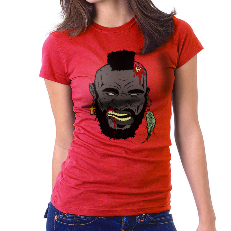 Zombie Mr. T Women's T-Shirt Women's T-Shirt Cloud City 7 - 16