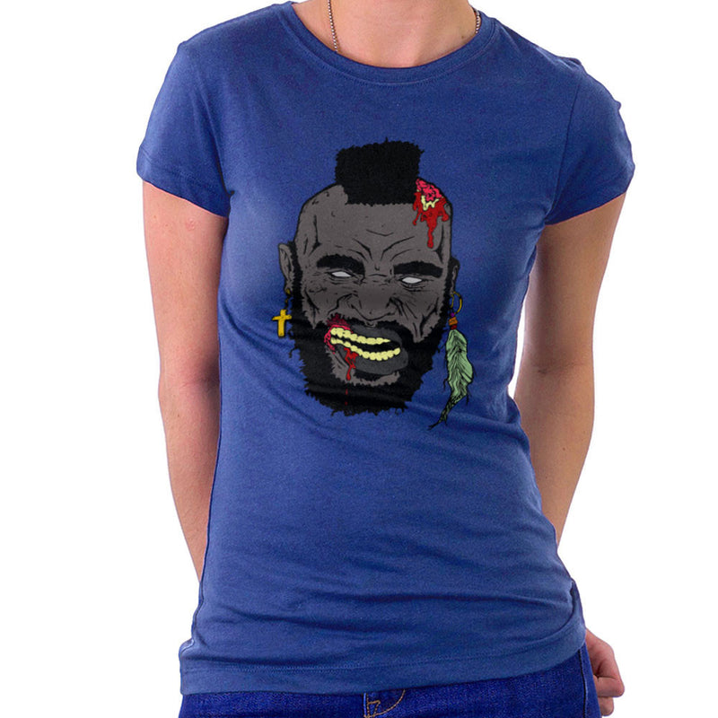 Zombie Mr. T Women's T-Shirt Women's T-Shirt Cloud City 7 - 8