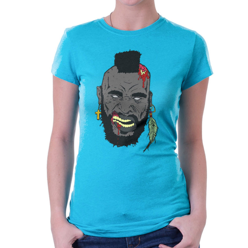 Zombie Mr. T Women's T-Shirt Women's T-Shirt Cloud City 7 - 10