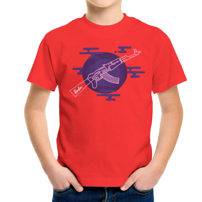 Barbie Gun AK-47 Kid's T-Shirt Kid's Boy's T-Shirt Cloud City 7 - 15