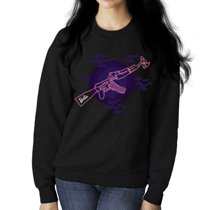 Barbie Gun AK-47 Women's Sweatshirt Women's Sweatshirt Cloud City 7 - 2