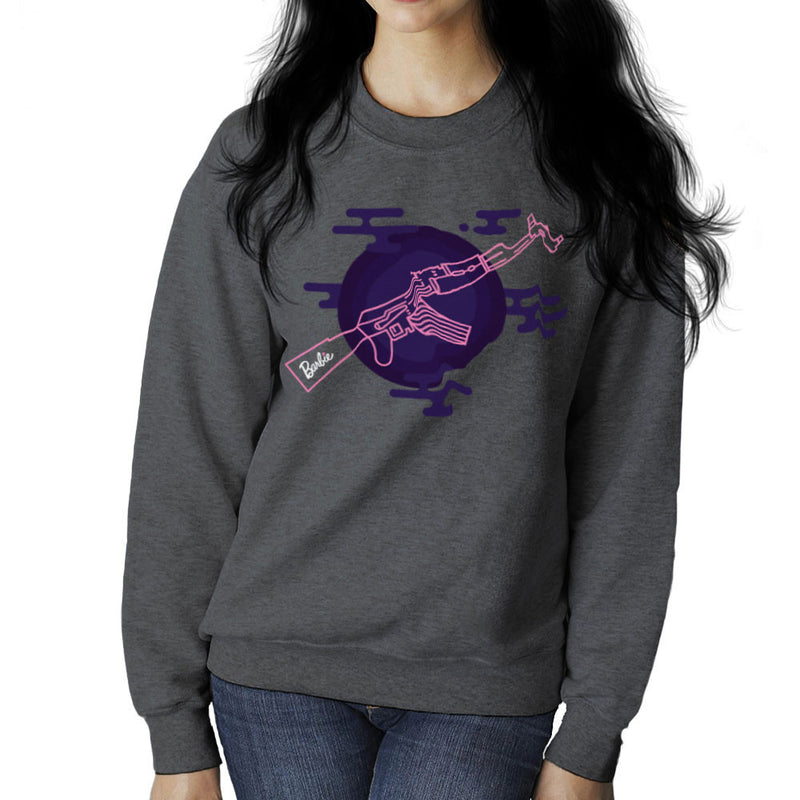 Barbie Gun AK-47 Women's Sweatshirt Women's Sweatshirt Cloud City 7 - 4