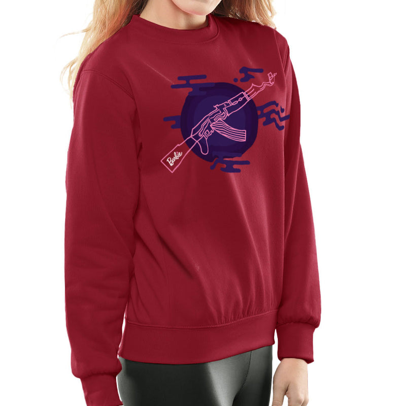 Barbie Gun AK-47 Women's Sweatshirt Women's Sweatshirt Cloud City 7 - 15