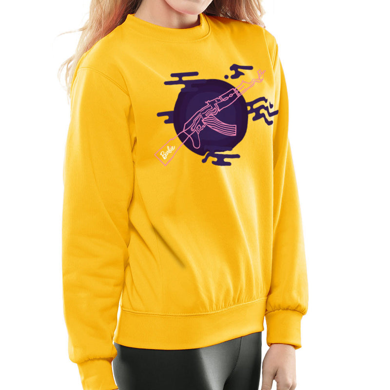 Barbie Gun AK-47 Women's Sweatshirt Women's Sweatshirt Cloud City 7 - 18