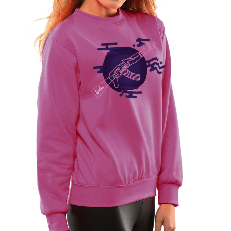 Barbie Gun AK-47 Women's Sweatshirt Women's Sweatshirt Cloud City 7 - 20