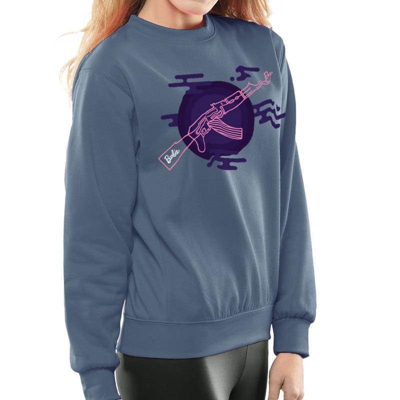 Barbie Gun AK-47 Women's Sweatshirt Women's Sweatshirt Cloud City 7 - 9