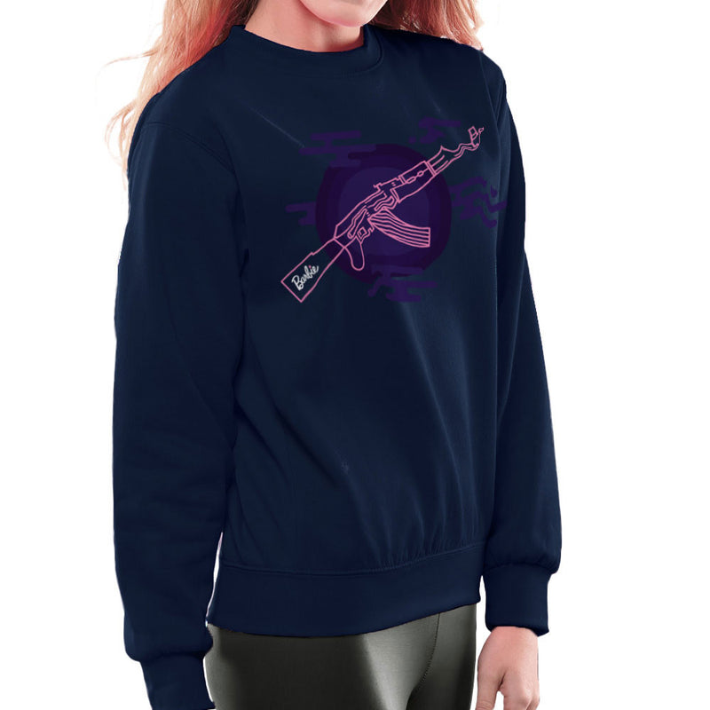 Barbie Gun AK-47 Women's Sweatshirt Women's Sweatshirt Cloud City 7 - 7