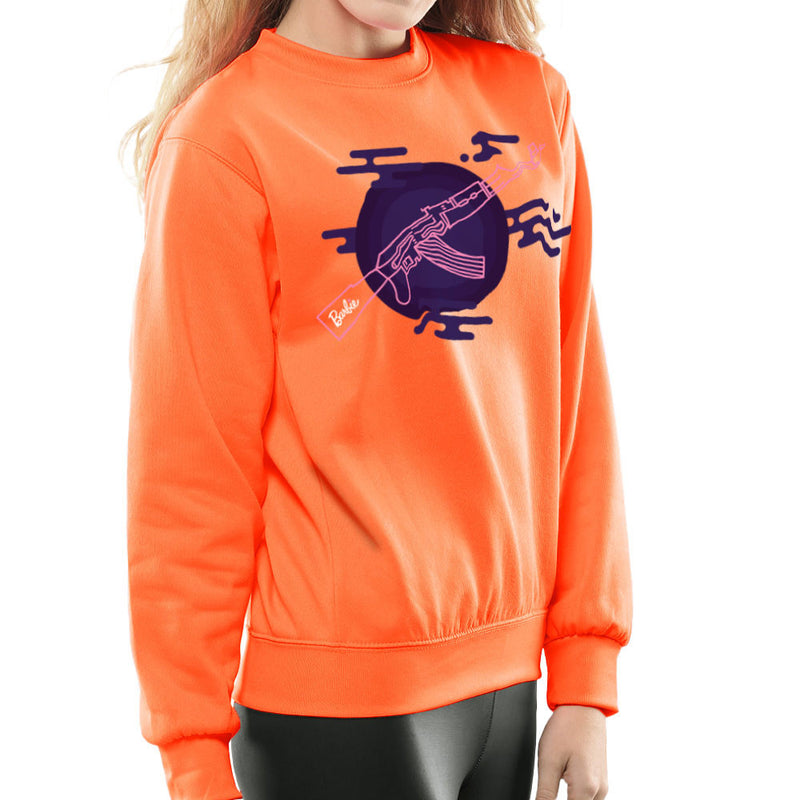 Barbie Gun AK-47 Women's Sweatshirt Women's Sweatshirt Cloud City 7 - 17