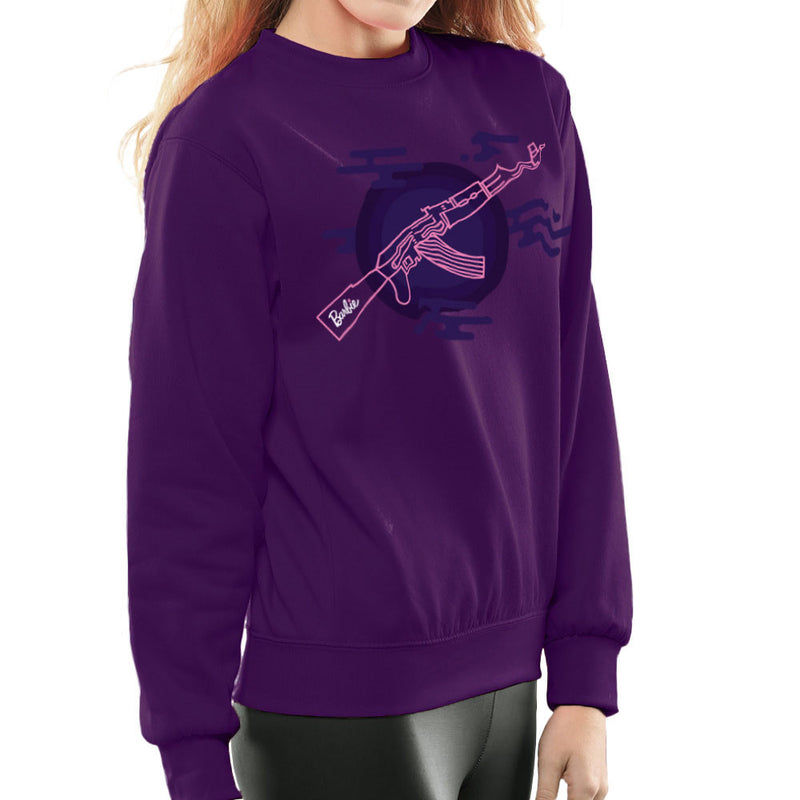 Barbie Gun AK-47 Women's Sweatshirt Women's Sweatshirt Cloud City 7 - 19