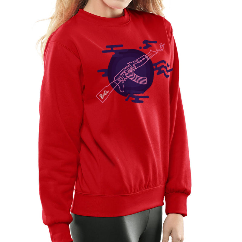 Barbie Gun AK-47 Women's Sweatshirt Women's Sweatshirt Cloud City 7 - 16