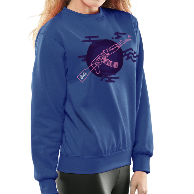 Barbie Gun AK-47 Women's Sweatshirt Women's Sweatshirt Cloud City 7 - 8