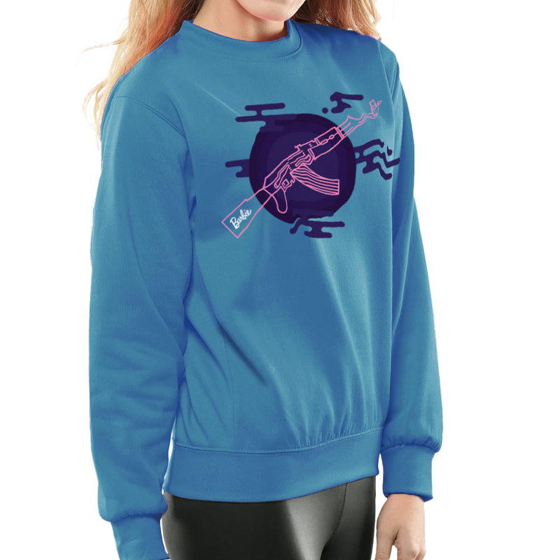 Barbie Gun AK-47 Women's Sweatshirt Women's Sweatshirt Cloud City 7 - 10