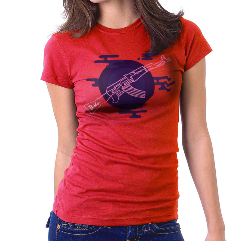 Barbie Gun AK-47 Women's T-Shirt by Belinattink - Cloud City 7