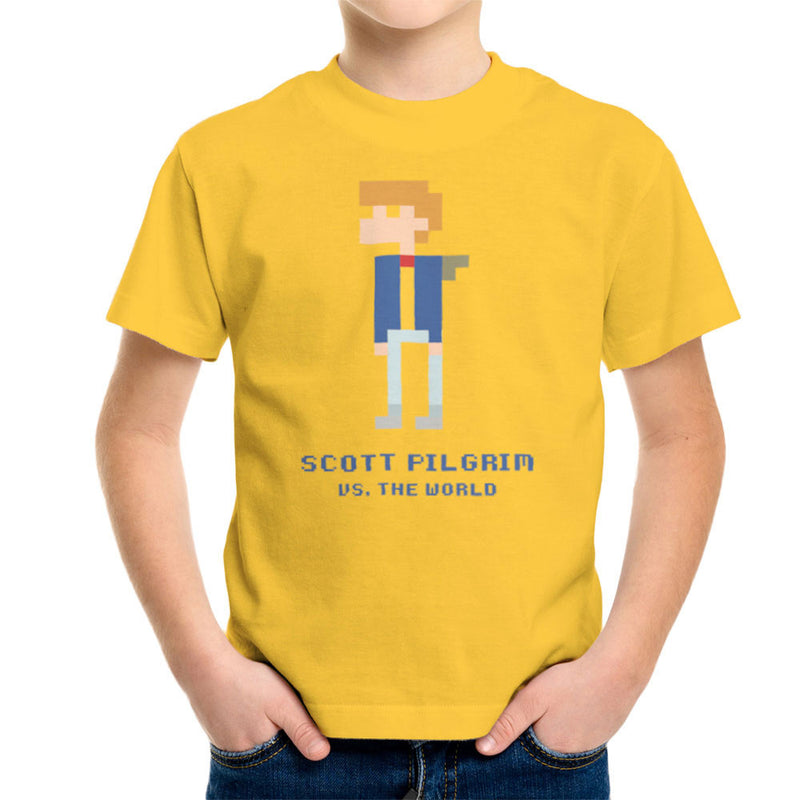 Scott Pilgrim Vs The World Pixel Kid's T-Shirt by Belinattink - Cloud City 7