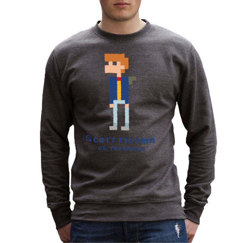 Scott Pilgrim Vs The World Pixel Men's Sweatshirt by Belinattink - Cloud City 7