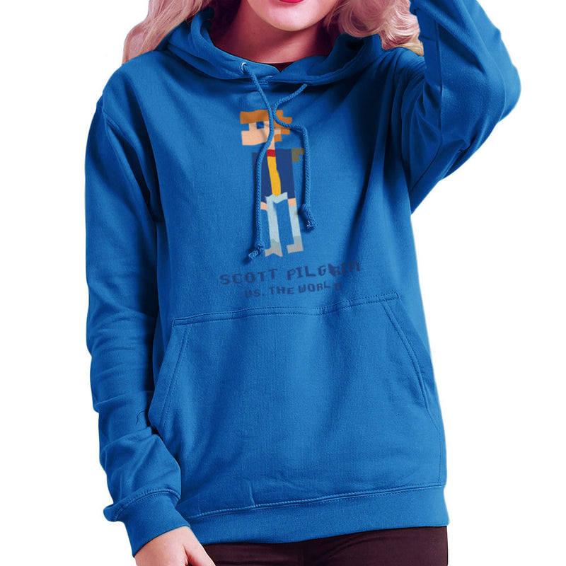 Scott Pilgrim Vs The World Pixel Women's Hooded Sweatshirt Women's Hooded Sweatshirt Cloud City 7 - 8