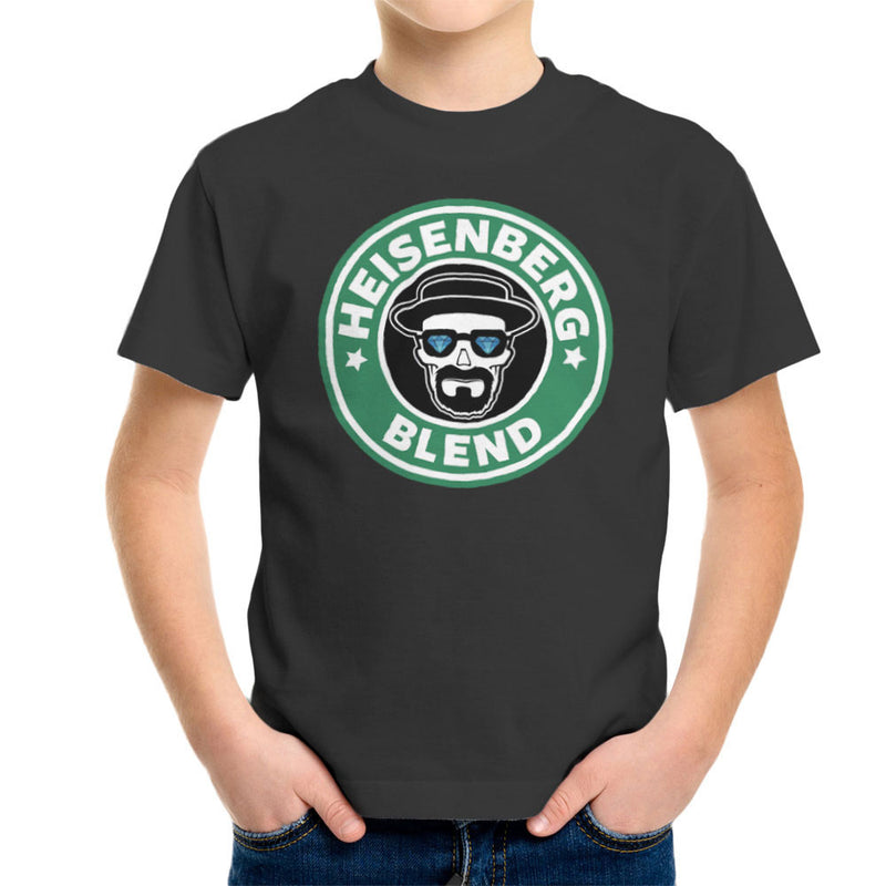 Breaking Bad Starbucks Heisenberg Blend Coffee Kid's T-Shirt by Pheasant Omelette - Cloud City 7