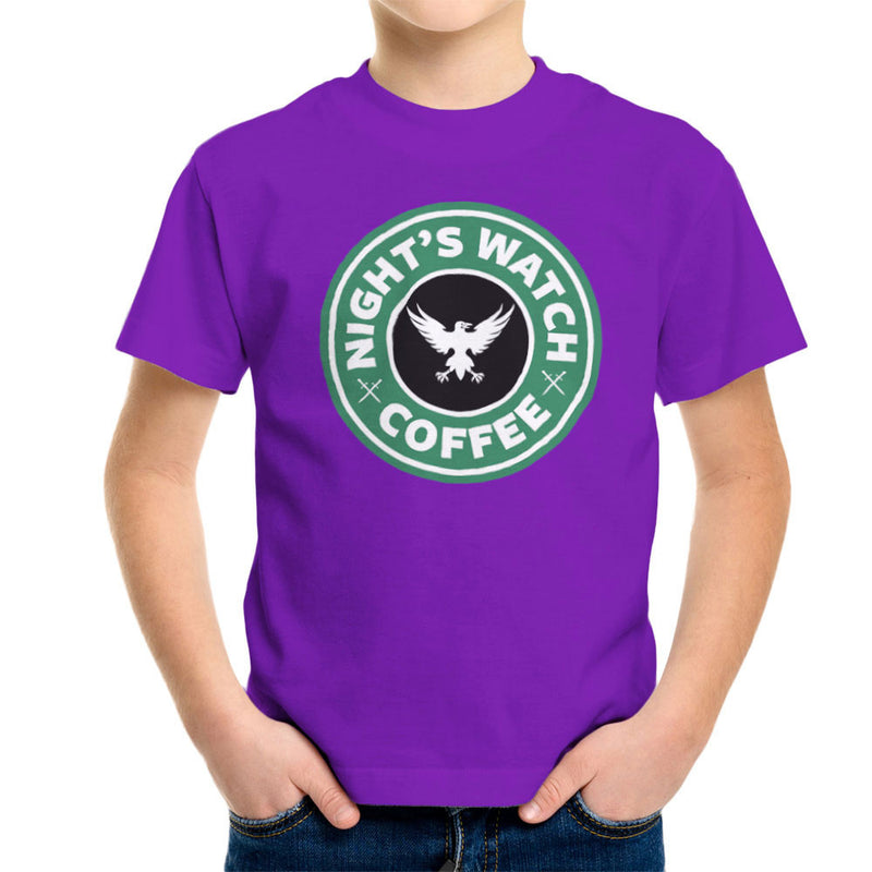 Game Of Thrones Night's Watch Starbucks Coffee Kid's T-Shirt by Pheasant Omelette - Cloud City 7
