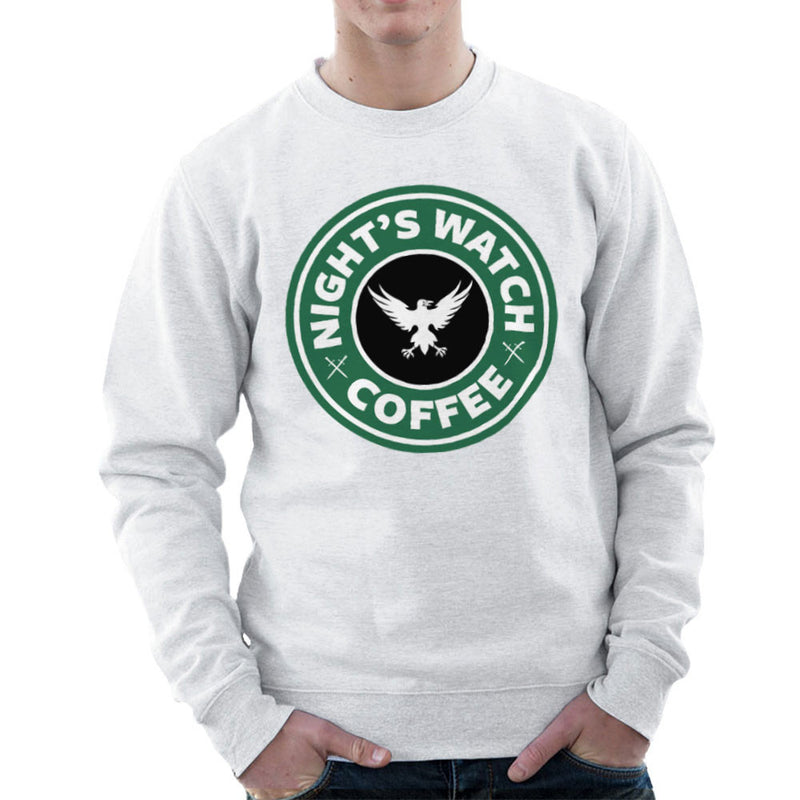 Game Of Thrones Night's Watch Starbucks Coffee Men's Sweatshirt by Pheasant Omelette - Cloud City 7