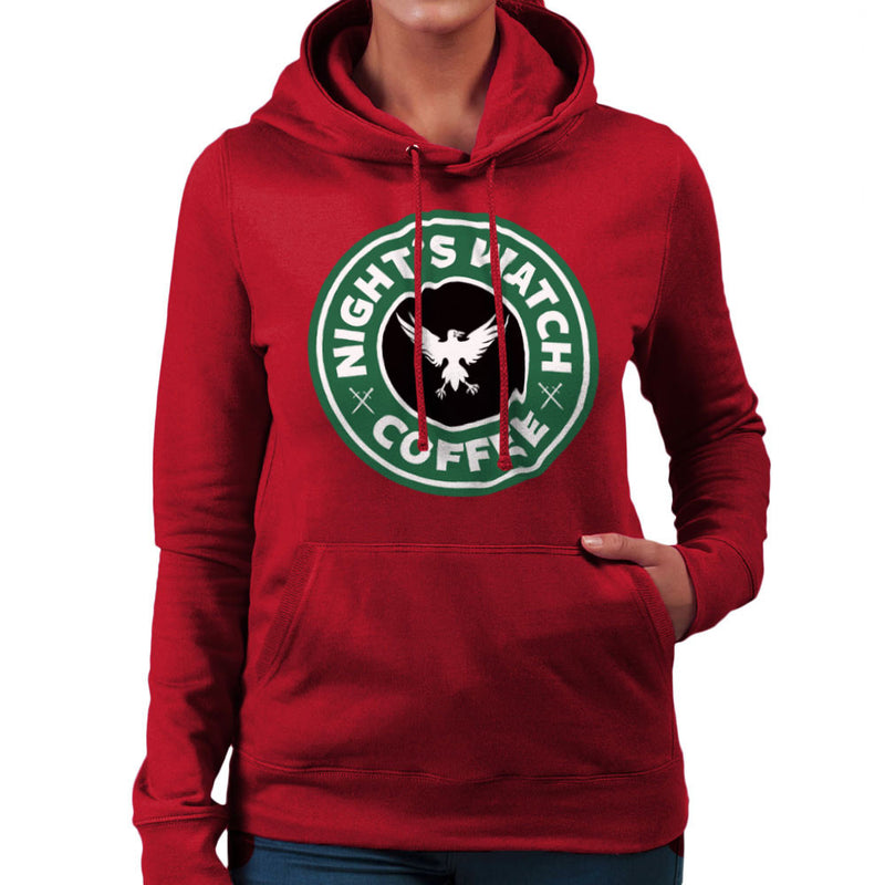 Game Of Thrones Night's Watch Starbucks Coffee Women's Hooded Sweatshirt by Pheasant Omelette - Cloud City 7