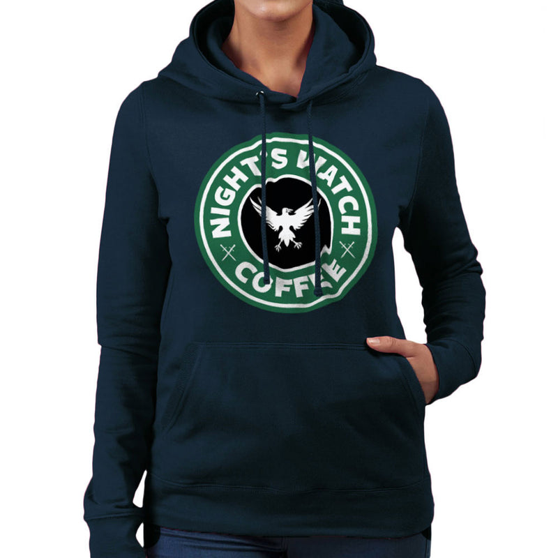 Game Of Thrones Night's Watch Starbucks Coffee Women's Hooded Sweatshirt Women's Hooded Sweatshirt Cloud City 7 - 7