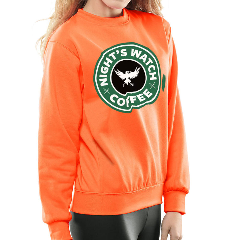 Game Of Thrones Night's Watch Starbucks Coffee Women's Sweatshirt by Pheasant Omelette - Cloud City 7