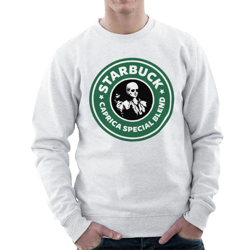 Battlestar Galactica Starbucks Starbuck Caprica Special Blend Coffee Men's Sweatshirt by Pheasant Omelette - Cloud City 7