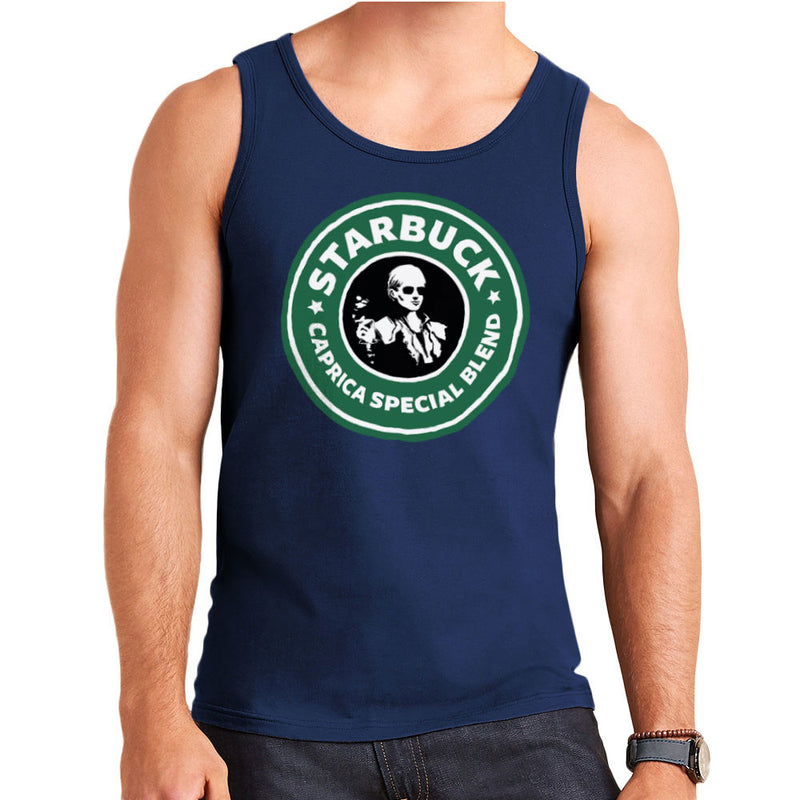 Battlestar Galactica Starbucks Starbuck Caprica Special Blend Coffee Men's Vest by Pheasant Omelette - Cloud City 7