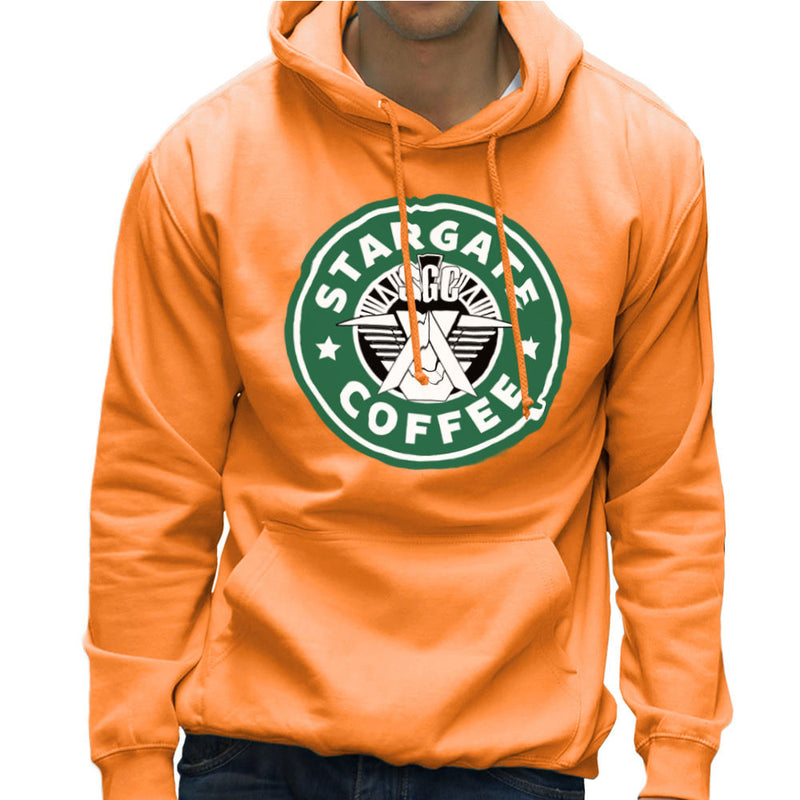 Stargate SGC Starbucks Coffee Men's Hooded Sweatshirt by Pheasant Omelette - Cloud City 7