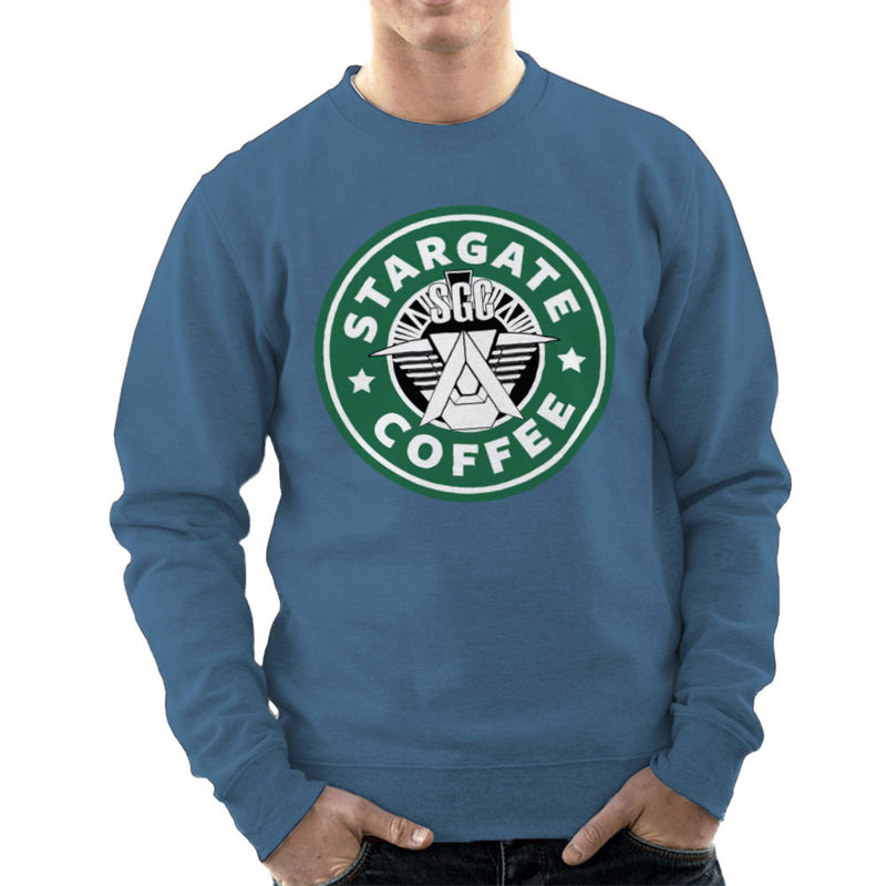 Stargate SGC Starbucks Coffee Men's Sweatshirt Men's Sweatshirt Cloud City 7 - 9