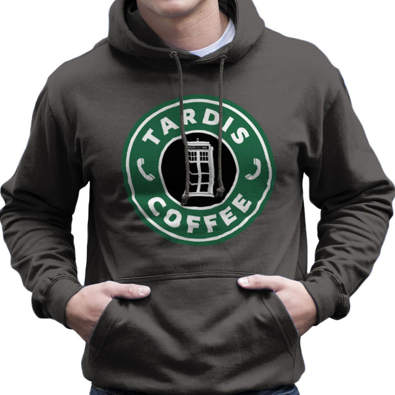 Dr Who Tardis Starbucks Coffee Men's Hooded Sweatshirt Men's Hooded Sweatshirt Cloud City 7 - 4