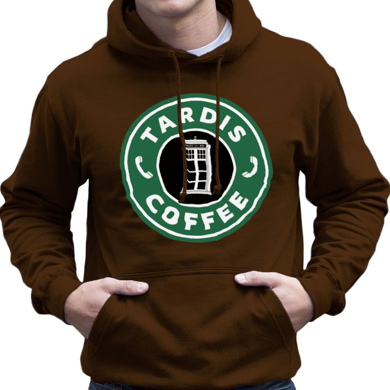 Dr Who Tardis Starbucks Coffee Men's Hooded Sweatshirt Men's Hooded Sweatshirt Cloud City 7 - 12