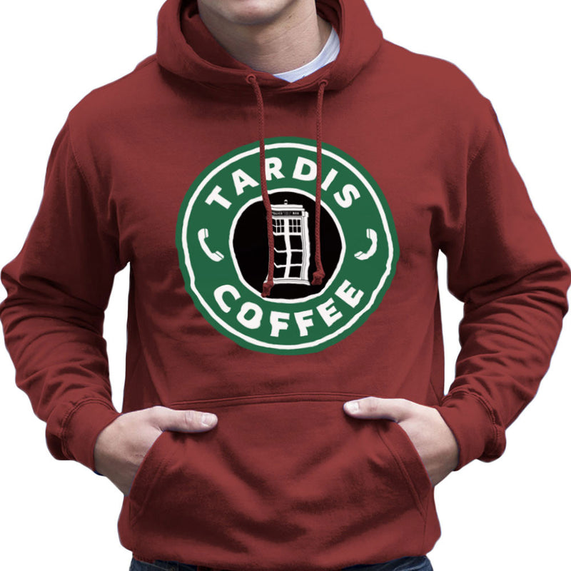 Dr Who Tardis Starbucks Coffee Men's Hooded Sweatshirt Men's Hooded Sweatshirt Cloud City 7 - 15