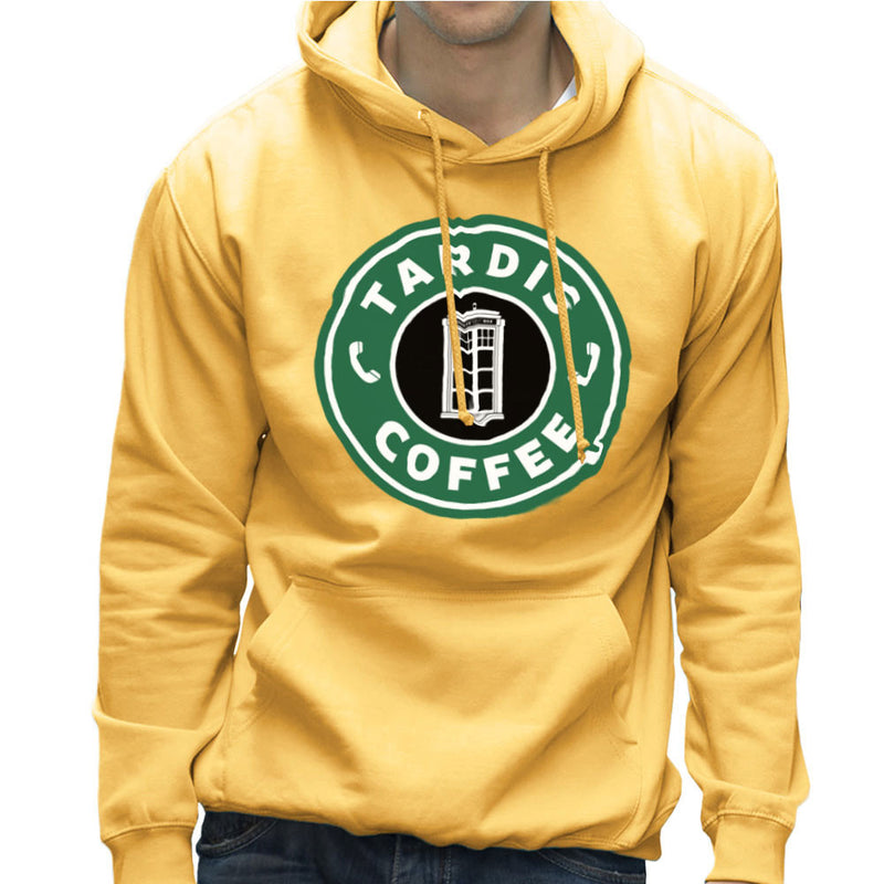 Dr Who Tardis Starbucks Coffee Men's Hooded Sweatshirt Men's Hooded Sweatshirt Cloud City 7 - 18
