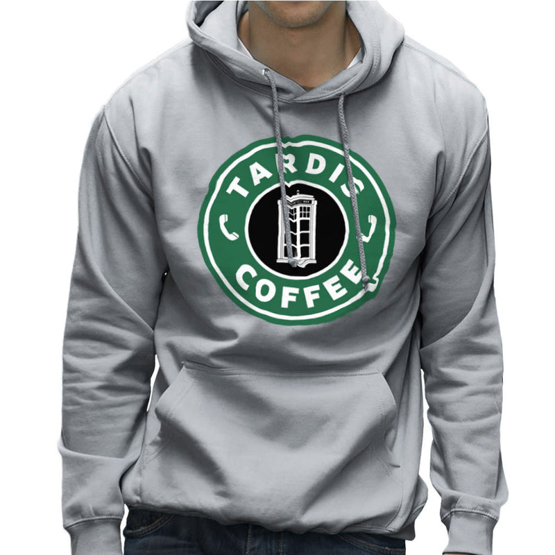 Dr Who Tardis Starbucks Coffee Men's Hooded Sweatshirt by Pheasant Omelette - Cloud City 7