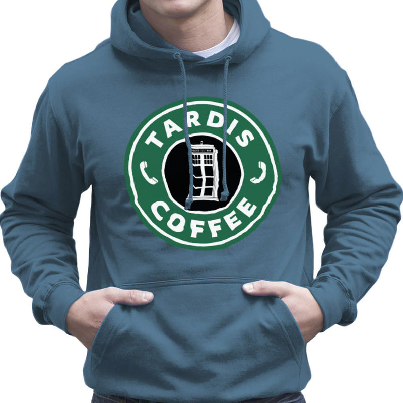 Dr Who Tardis Starbucks Coffee Men's Hooded Sweatshirt Men's Hooded Sweatshirt Cloud City 7 - 9