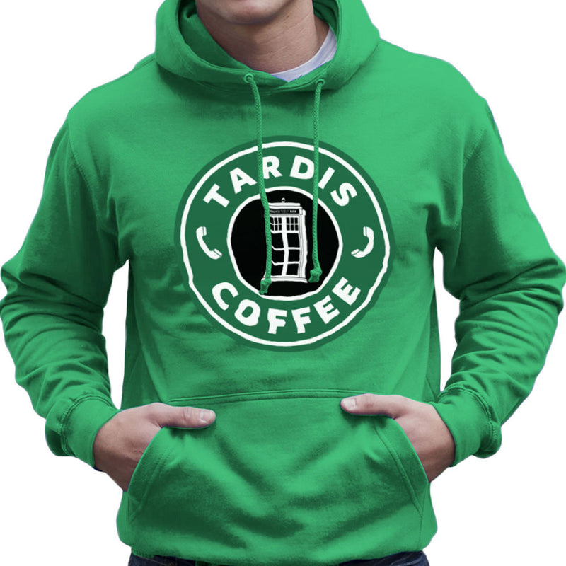 Dr Who Tardis Starbucks Coffee Men's Hooded Sweatshirt Men's Hooded Sweatshirt Cloud City 7 - 14